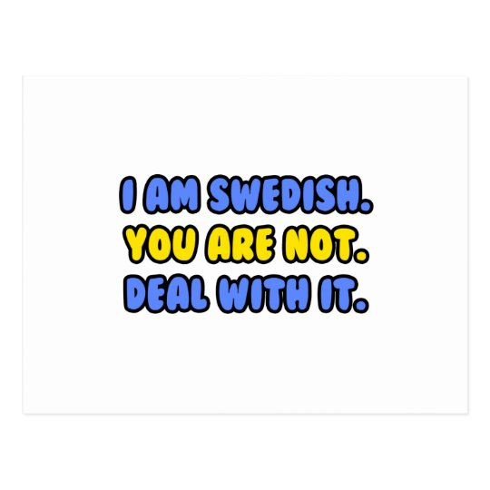 Deal With It ... Funny Swedish Postcard