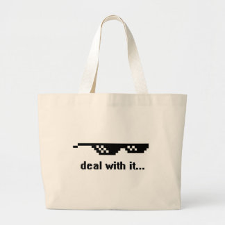 deal with it... large tote bag