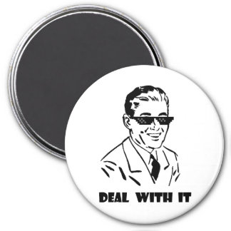 Deal With It Retro 3 Inch Round Magnet