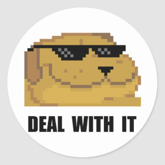 Deal With It Round Stickers