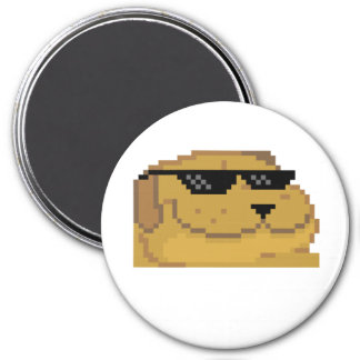 Deal With it Smugdog 3 Inch Round Magnet