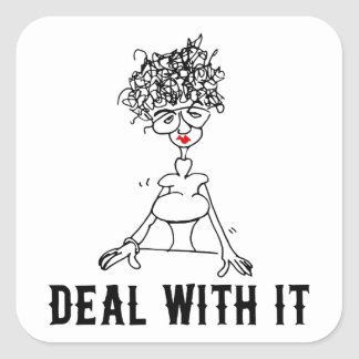 Deal With It! Square Sticker