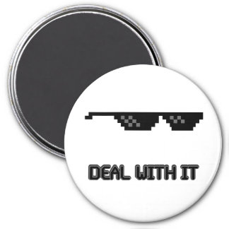 Deal With It Sunglasses 3 Inch Round Magnet
