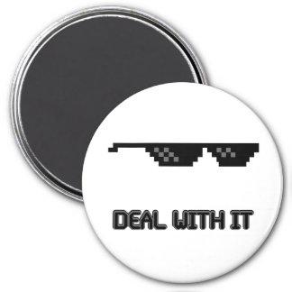 Deal With It Sunglasses Fridge Magnet