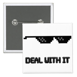 Deal With It Sunglasses Pinback Button