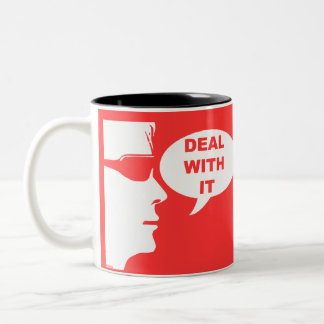 Deal with it Two-Tone coffee mug