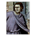 Dealer By Giotto Di Bondone Greeting Card