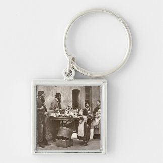 Dealer in Fancy Ware, 1876-77 (woodburytype) Keychain