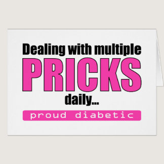 Dealing with Multiple Pricks Daily (Pink) Card