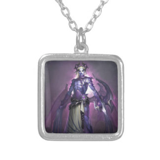 Deamon Silver Plated Necklace