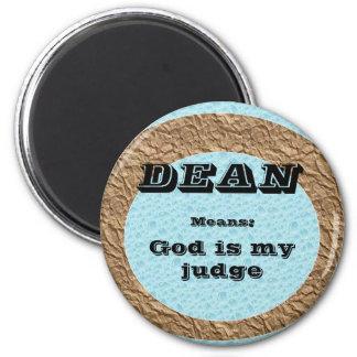 Dean 2 Inch Round Magnet