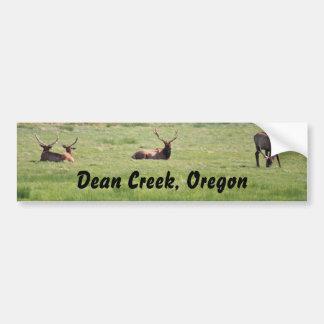 Dean Creek, Oregon Bull Elk Car Bumper Sticker