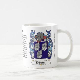 Dean Family Coat of Arms Mug