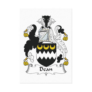 Dean Family Crest Gallery Wrapped Canvas