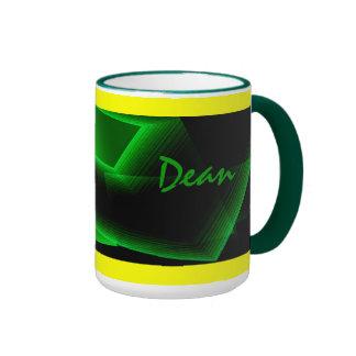 Dean green ringer mug