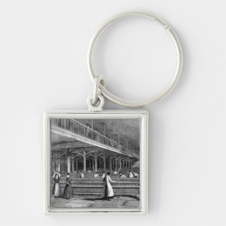 Dean Mills - The Doubling Room, 1851 (litho) Key Chains