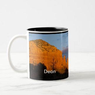 Dean on Moonrise Glowing Red Rock Mug