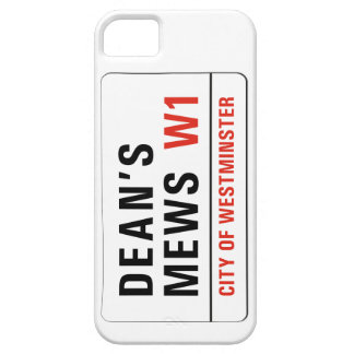 Dean s Mews London Street Sign iPhone 5/5S Case