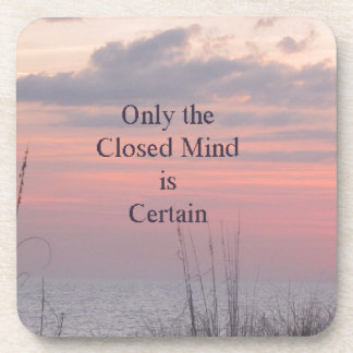 Dean Spanley Quote Closed mind Sunset Coaster
