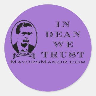 Dean - Stick it! Classic Round Sticker