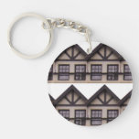 Dean Village Detail Double-Sided Round Acrylic Key Ring