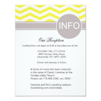 Deandra Chic Chevron Reception Details | yellow Card