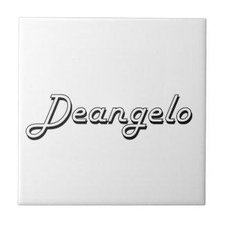 Deangelo Classic Retro Name Design Small Square Tile