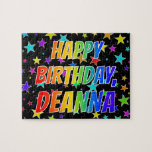 "[ Thumbnail: ""Deanna"" First Name, Fun ""Happy Birthday"" Jigsaw Puzzle ]"