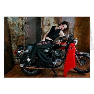 Deanna McBrearty - bailarina en una bici 1 Tarjeta De Felicitación