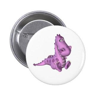 Deano el Dino Pin Redondo De 2 Pulgadas