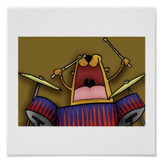 Deano plays the Drums Print