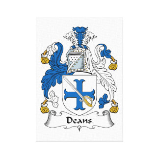 Deans Family Crest Gallery Wrapped Canvas