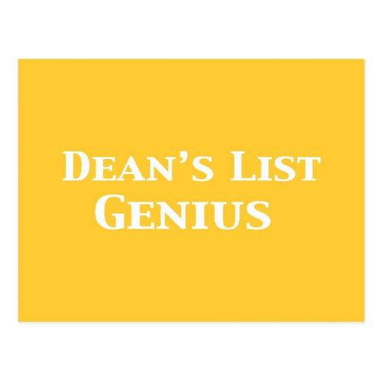 Dean's List Genius Gifts Postcard