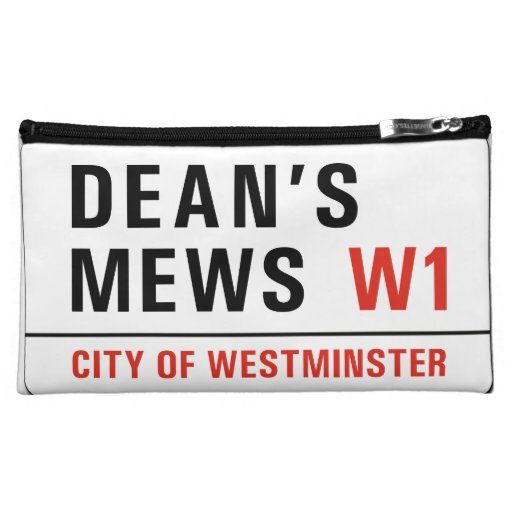Dean's Mews, London Street Sign Cosmetic Bag