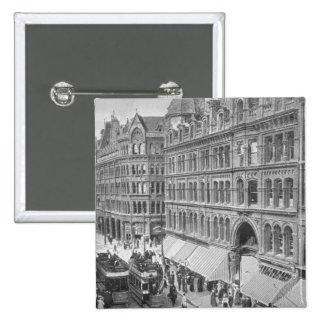 Deansgate, Manchester, c.1910 Pin Cuadrado