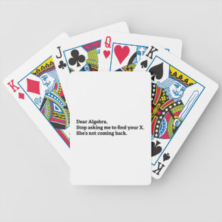 Dear Algebra Bicycle Playing Cards