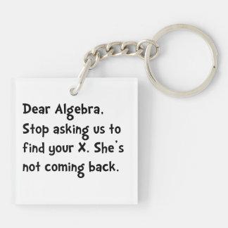 Dear Algebra Double-Sided Square Acrylic Keychain