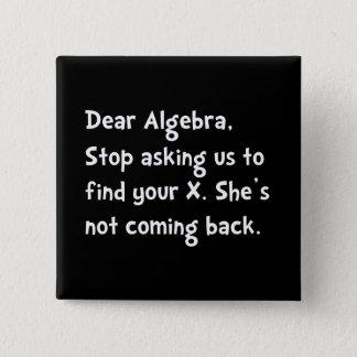 Dear Algebra Pinback Button