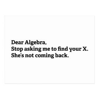 Dear Algebra Postcard