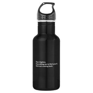 Dear Algebra Water Bottle