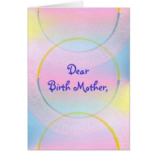 Dear Birth Mother, Thank you poem card