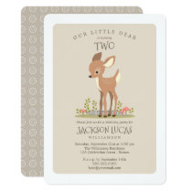 Dear Boy Little Deer Child's Birthday Party Card