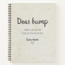 Dear Bump Keepsake Pregnancy Journal