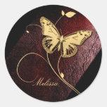 Dear Butterfly ID199 Classic Round Sticker