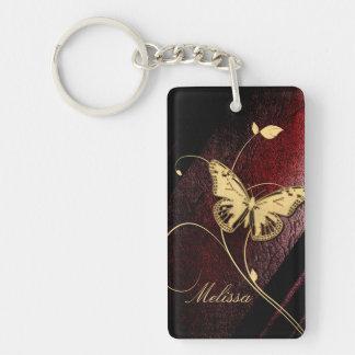 Dear Butterfly Single-Sided Rectangular Acrylic Keychain