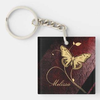 Dear Butterfly Single-Sided Square Acrylic Keychain