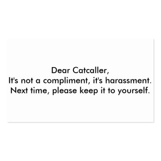 dear catcaller cards Double-Sided standard business cards (Pack of 100)