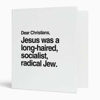 DEAR CHRISTIANS JESUS WAS A JEW -.png Binders