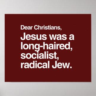 DEAR CHRISTIANS JESUS WAS A JEW PRINT
