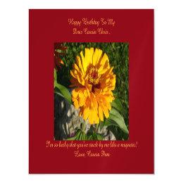 Dear Cousin Magnetic Birthday Card Flower
